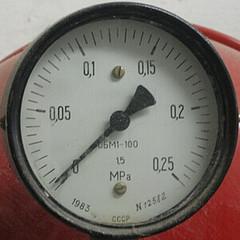 Wenn das Manometer na der Heizung zu wenig Druck anzeigt, muss nachgeregelt werden...