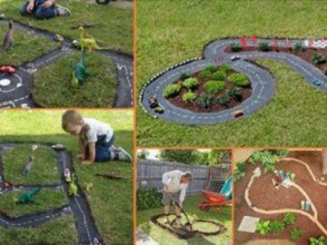 Geniale Ideen, um Kinder im Hof oder auf einer Terrasse zu beschäftigen