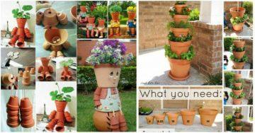 21 kreative DIY Ideen für Blumentöpfe, die euren Garten schöner machen
