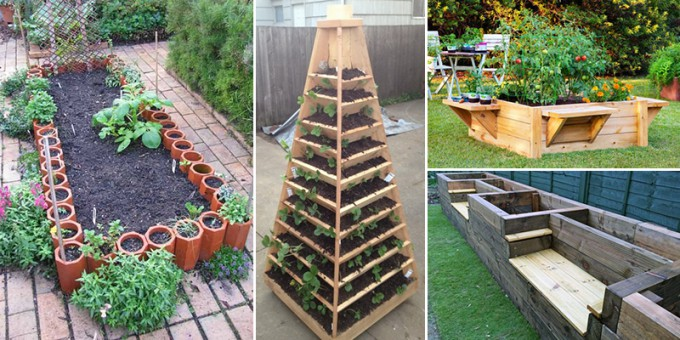 15 DIY Inspirationen für Hochbeete, welche euch die Gartenarbeit erleichtern