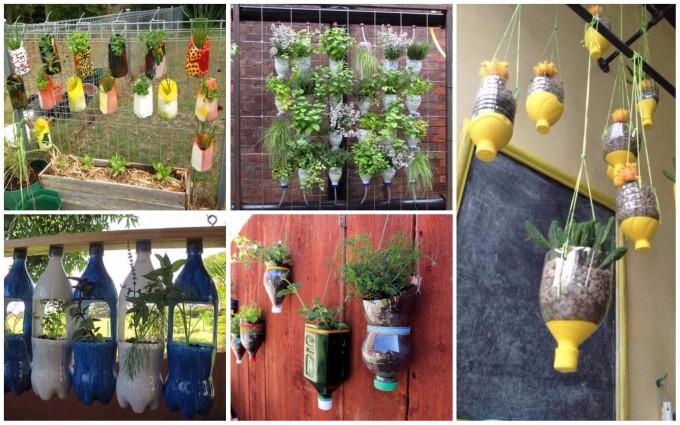 15 geniale Ideen um günstige Garten-Blumentöpfe aus Plastikflaschen zu basteln