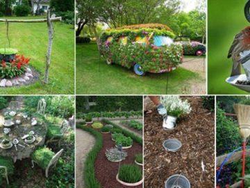Garten aufpeppen: 19 inspirierende und kreative Tipps
