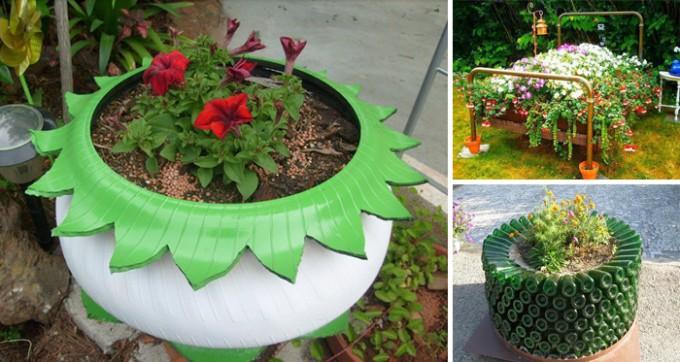 17 Tipps zum Upcylcen von alten Sachen, um dem Garten einen neuen Anstrich zu verpassen
