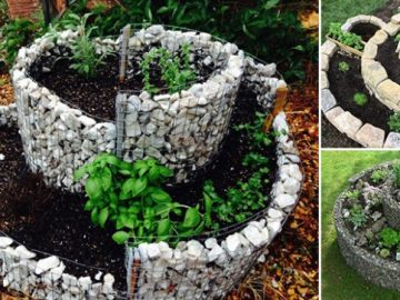 12 Inspirationen für platzsparende spiralförmige Gärten