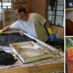 Ungewöhnliche Arbeitsplatte aus Beton für die Küche