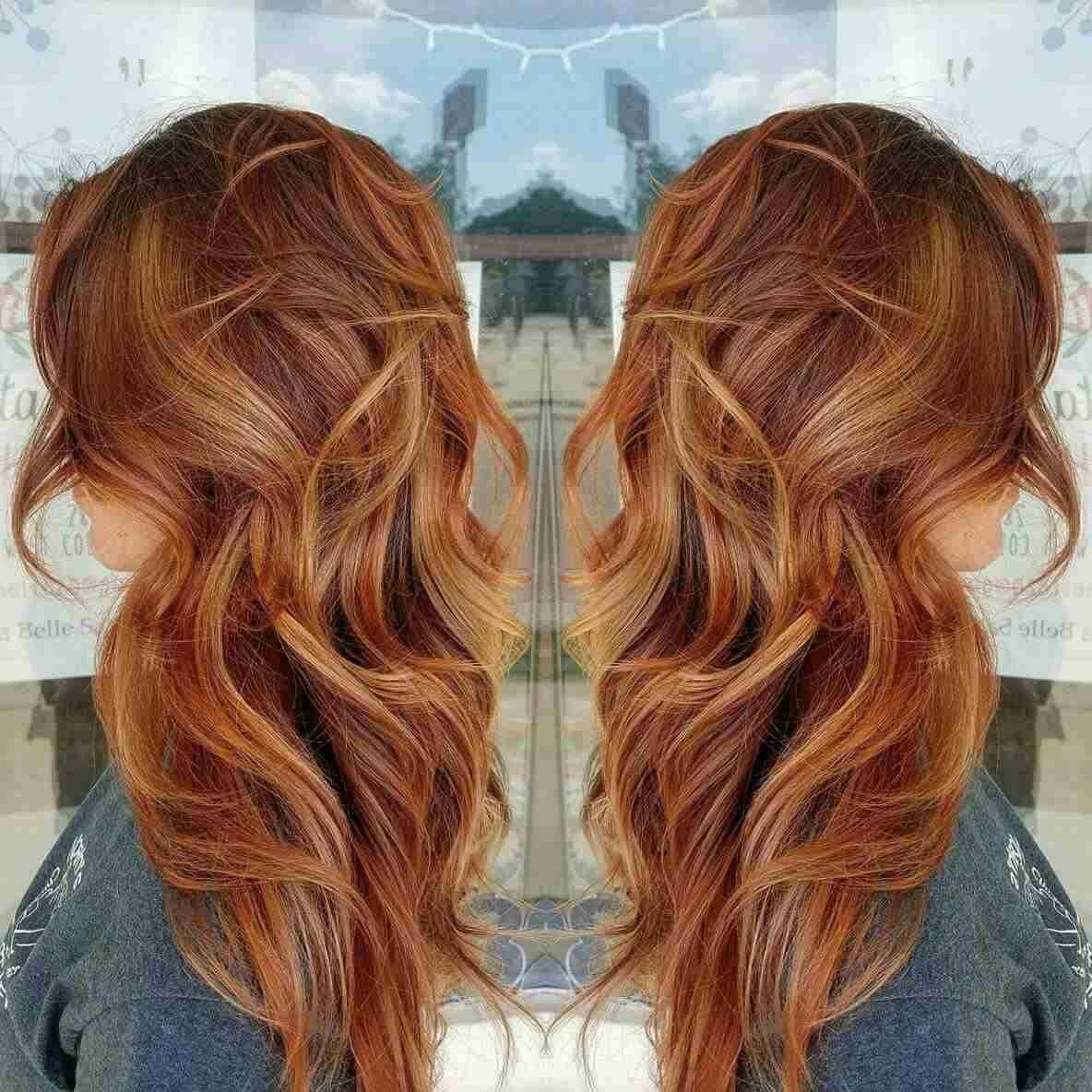 Balayage Rot Blond Haartrend Kupferrot Haarfarbe Highlights
