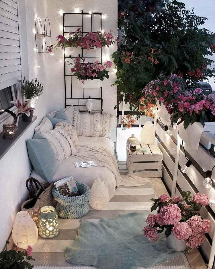 Balkon Lounge Möbel selber bauen Wohnaccessoires Außenbereich Wohntrends