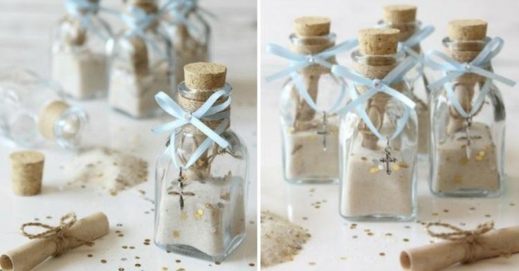 gastgeschenke zur taufe glas-sand-botschaft-flaschenpost