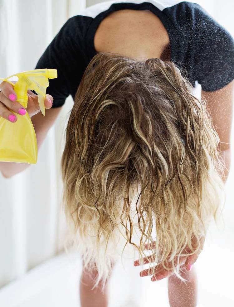 Haare Feuchtigkeitsspray selber machen Aloe Vera
