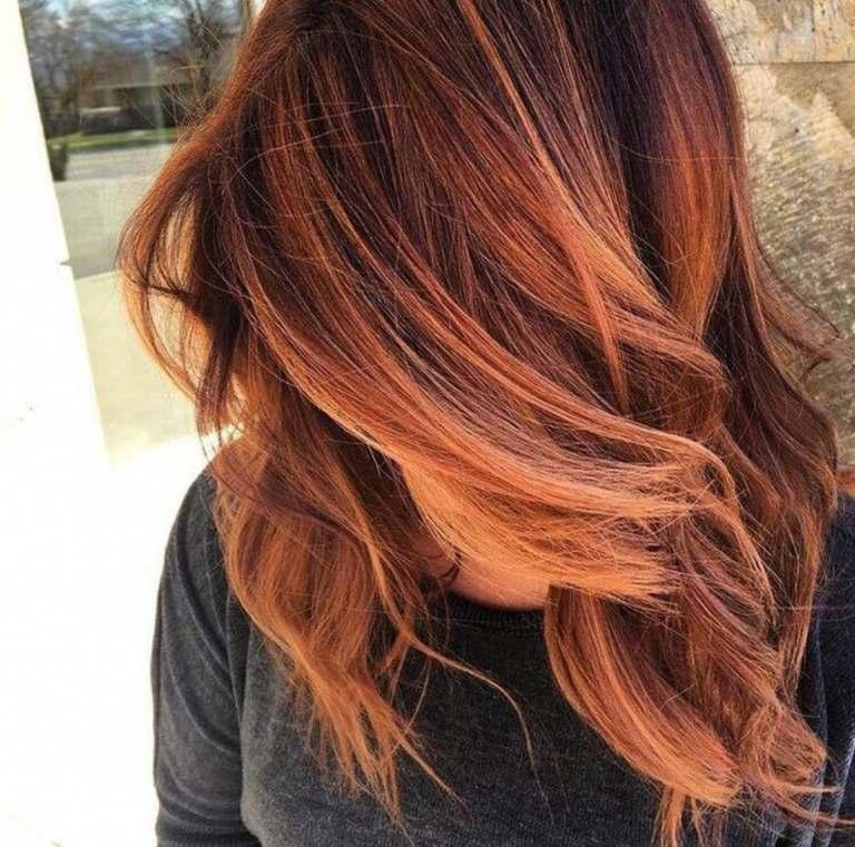 Kupferrot Balayage auf braune Haare Haarpflege Tipps