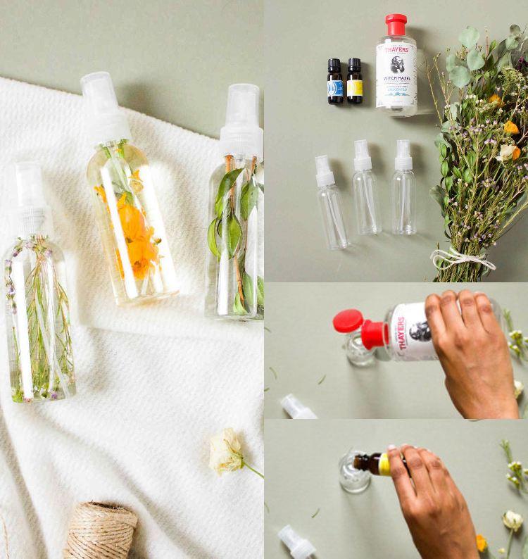 Lavendelspray selber machen Rezept ohne Alkohol und Ideen für Duftkombinationen
