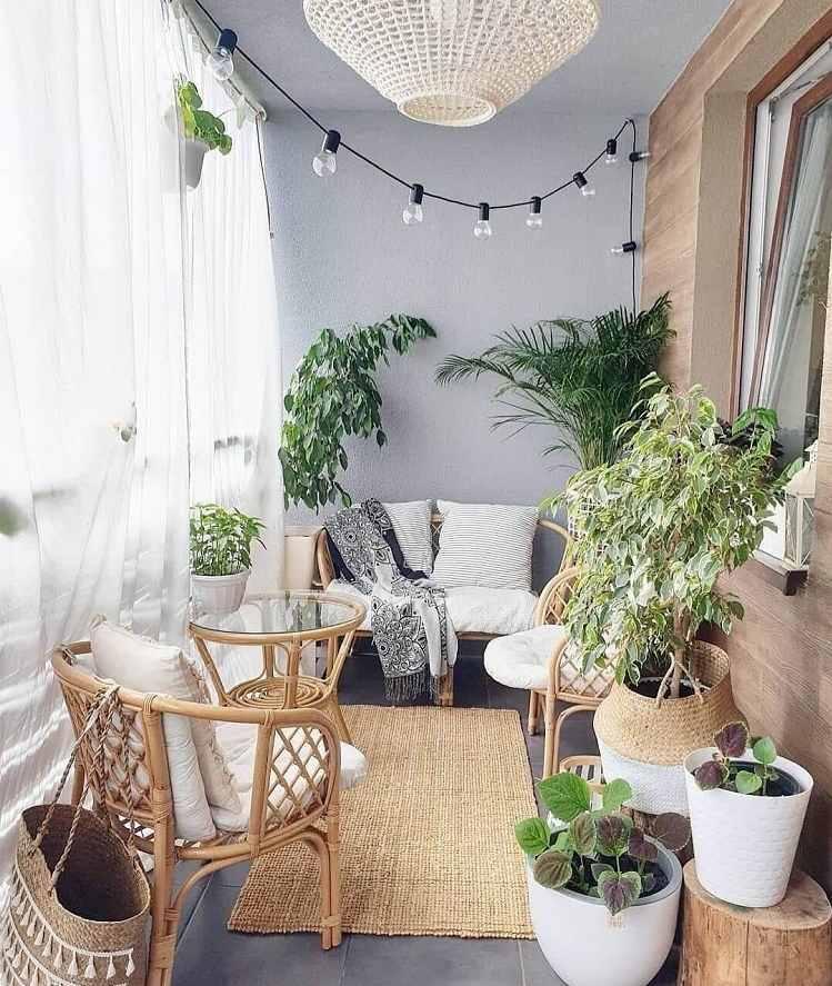 Lounge Möbel kleiner Balkon Platzsparende Balkonliege DIY Anleitung