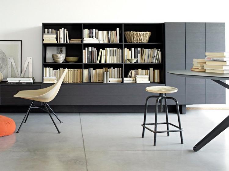 moderne-wohnzimmermoebel-stauraum-regaschrank-grau-buecherregale-grifflos