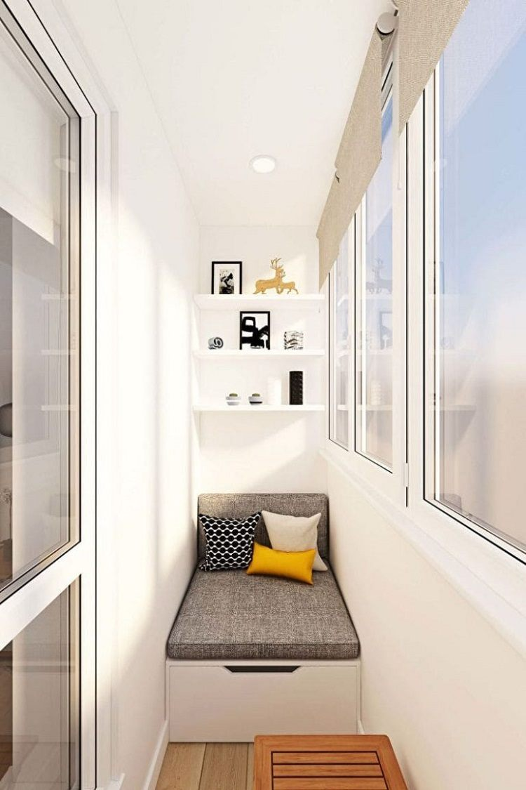 schmalen Balkon gestalten lang Liegefläche selber bauen